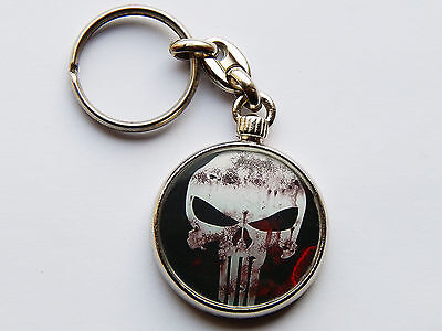 THE PUNISHER Movie Super Hero Quality Chrome Keyring Picture Both Sides!