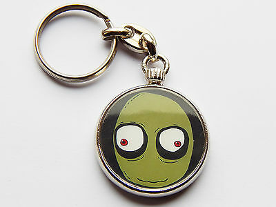 SALAD FINGERS Classic Cartoon Quality Chrome Keyring Picture on Both Sides!