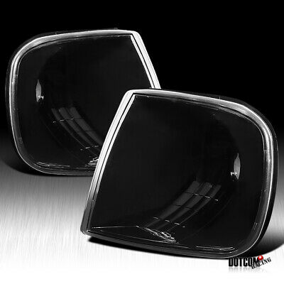 Euro Black Clear Corner Turn Signal Lamps F150 Expedition