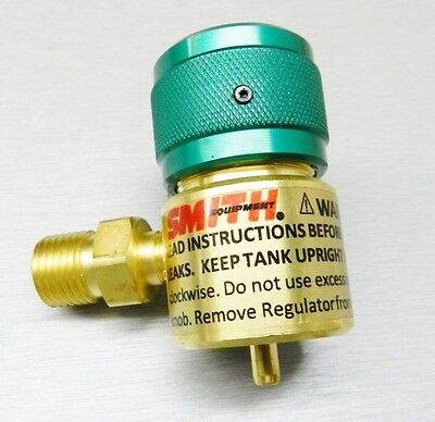 Smith Little Torch Regulator Preset Oxygen 249-499B for use with Disposable Tank