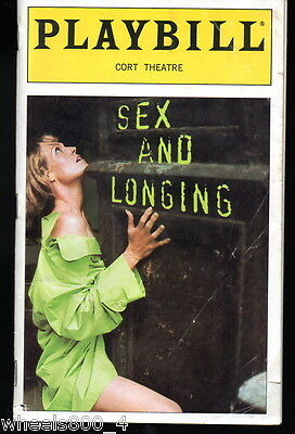 Broadway Playbill SEX and LONGING  Cort Theatre  October 1996 Good