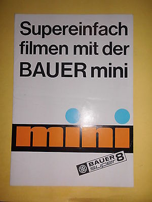 Original Prospekt Sale Brochure Bauer mini Super 8 Filmkamera mini S Preise