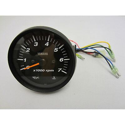 Yamaha New OEM Pro Series II Black Face Tachometer Tach 6Y7-83540-80-00