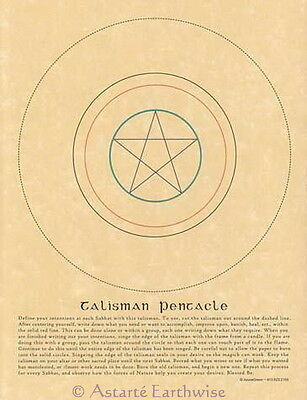 TALISMAN PENTACLE CUT OUT FOR SPELLS POSTER A4 SIZE Wicca Pagan Witch Spell