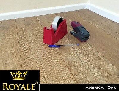 12mm Laminate Wood Flooring Packs - V Groove - AC5 - Embossed Oak - High Quality