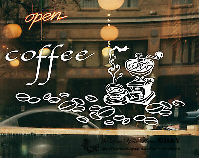 Coffee Cafe Cake Take Away Shop Window Stickers Decal Vinyl Sign Lettering Decor