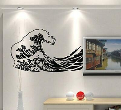 See Ocean Water Wave Removable Wall Art Stickers Vinyl Wall Decals Home Decor AU