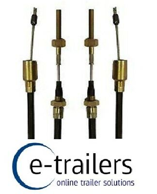 PAIR 1630mm TRAILER BRAKE CABLES KNOTT STYLE DETACHABLE THREADED - IFOR WILLIAMS