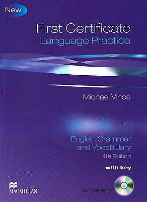 Macmillan FIRST CERTIFICATE LANGUAGE PRACTICE w Key & CD-ROM 4th Edition FCE New