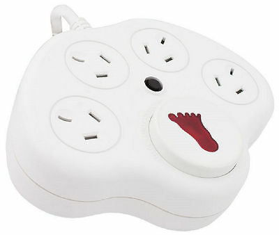 Surge Protected Foot Switch Power Board - Just Step On It - Four Power Outlets