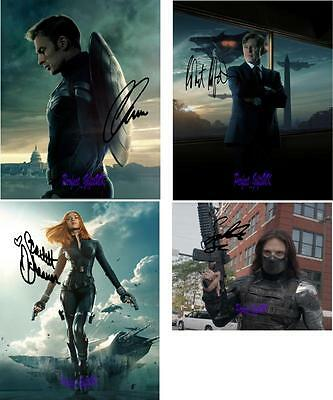 Captain America Winter Soldier 1-4 SIGNED AUTOGRAPHED 10X8 REPRO PHOTO PRINT