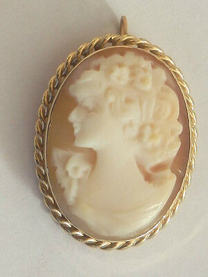 14ct yellow gold cameo pendantbrooch itema3638 17500 picclick uk 14ct yellow gold cameo pendantbrooch itema3638 aloadofball Images