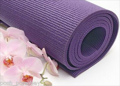 Thick Non Slip Cushioned Exercise Fitness Gym Workout Mat Yoga Physio Pilates
