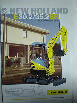 New Holland E30.2/35.2Sr  Bagger Prospekt Sales Brochure Englisch