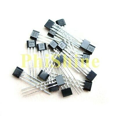 10pcs New A3144 A3144E OH3144E  AH3144E Hall Effect Sensor TO-92U
