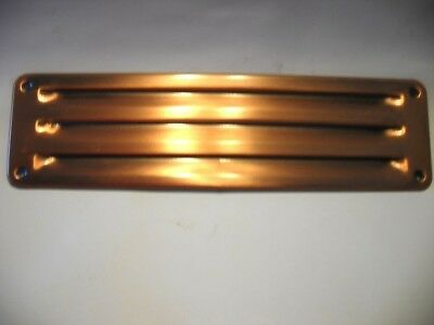 "Vtg NOS Antique COPPER Louvered VENT Kitchen Sink Trailer Fridge 10-3/8""  2-7/8"""