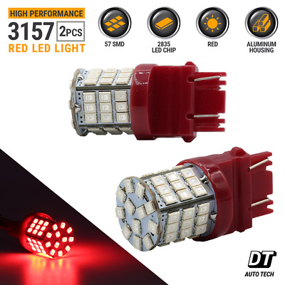 2X 3157 3156 Red SMD LED Brake Stop Tail Lights Bulbs