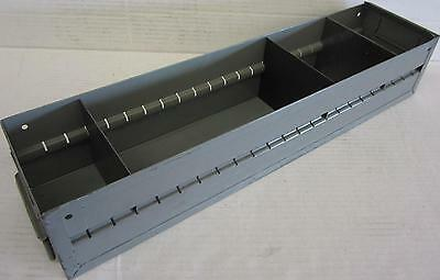 "23-3/4"" X 5-1/2"" X 5"" Metal Drawer W/ 4 Compartments For Parts Storage Cabinet"