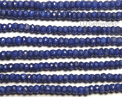 "14"" Strand SAPPHIRE 3.5mm Faceted Rondelle Beads"