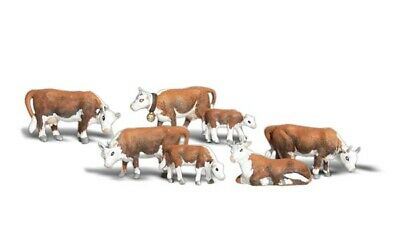Woodland Scenics Hereford Cows N Train Figures A2144