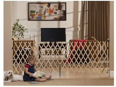 "Keepsafe Wood Expansion Dog Gate 31""- 84""(W), 32""(H) - Made in USA"