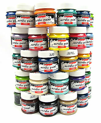 Acrylic Paint Glossy Craft 50ml - Various Colors for decoupage nail arts model