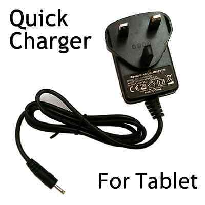 "5V 2A UK Mains AC Wall Adapter Power Supply Charger Android Tablet 7"" 8"" 9"" 10"""