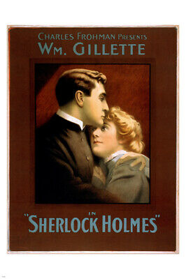 """Sherlock Holmes Charles Frohman William Gillette Theatre 12x8/"""" Reprint Poster"""