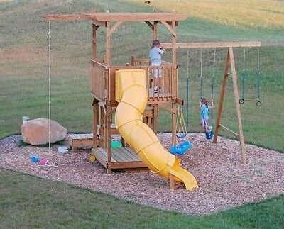 Detailed Plans/ Instructions to Build a Kid's Fort / Play Set/ Swing by Yourself