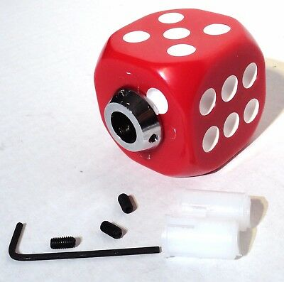gear shift knob red dice plastic for Peterbilt Kenworth Freightliner Ford