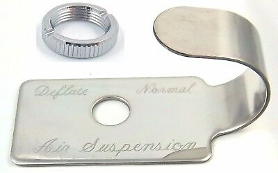 switch guard plate air suspension stainless steel metal for Peterbilt 1987-2000