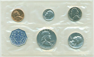 1963 Silver Proof Set, Gem Coins by the US Mint, No Envelope
