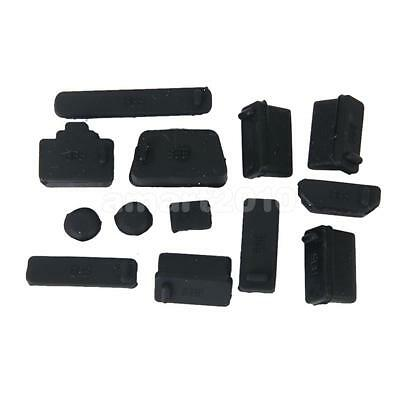 Black Protective USB Date Ports Cover Anti-Dust Plug Stopper for Laptop Notebook