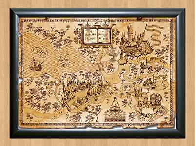 Harry Potter World Map Wall Home Decor Photo Poster Picture Print A4 297x210mm