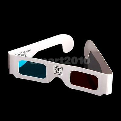 100 Pairs Anaglyph Red-Cyan (Blue) 3 Dimensional 3D Glasses for 3D Movie Game