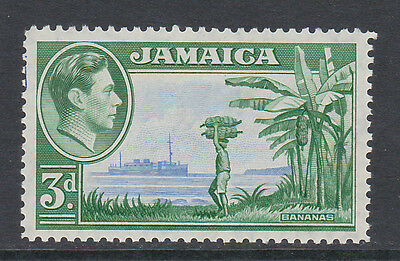 JAMAICA 1938-52 3d WITH 'A' OF 'CA' MISSING FROM WATERMARK SG 126a MNH.