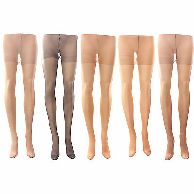 3 x Ladies Women 15 Denier 100% Nylon Tights Hosiery