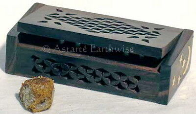 AMBER SCENT RELEASING BOX  Wicca Witch Reiki Pagan Goth Punk