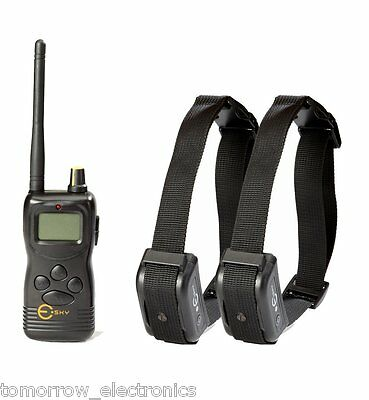New 1000yd Remote Dog Training Sys. w 2 Shock Collar Rechargeable Waterproof