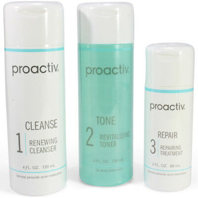 Proactiv 3 Step 60 Day Set Cleanser Toner Lotion proactive acne 120mL 2017-18exp