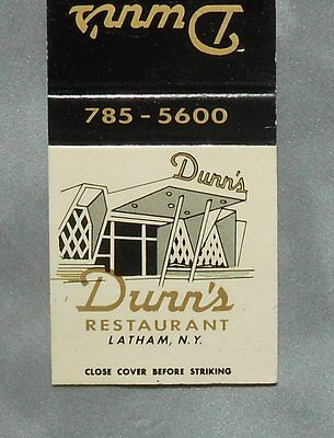 1960s Matchbook Dunn's Restaurant Cocktail Lounge Latham NY Albany Co New York