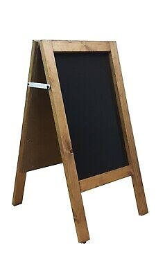 CHALKBOARD-PAVEMENT BOARD-SANDWICH-DISPLAY-BLACKBOARD -80cm x 40cm DARK OAK 5KGS
