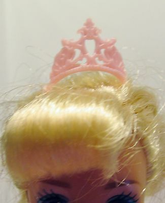 Barbie Doll Sized Clothes Jewelry Pink Small Tiara Crown Hair Accessory