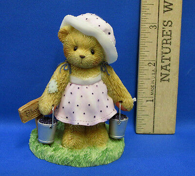 Cherished Teddies Resin Figurine Leah 2003 Membearship Figure Membership