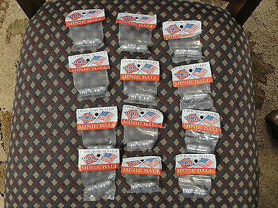 Lot of 12 Packages NOS of Reproduction Civil War Bullets