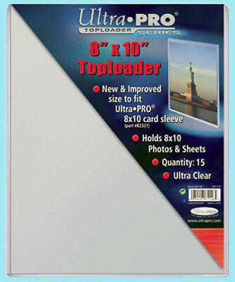 "15 Ultra Pro 8""x10"" TOPLOADERS NEW for Sleeves Memorabilia Photos Collectibles"