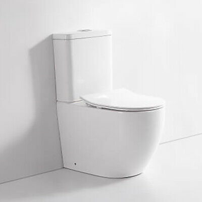 CARLTON Bathroom Toilet Suite Ceramic Back To Wall Soft Close UF Seat REN06FP