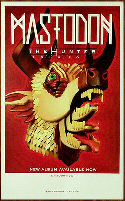 MASTODON The Hunter Ltd Ed Discontinued New RARE Poster +FREE Metal Rock Poster!