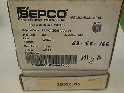 New Sepco Raa0030Hdn-Aaax-00 Mechanical Seal Rotary Raa0030Hdnaaax00
