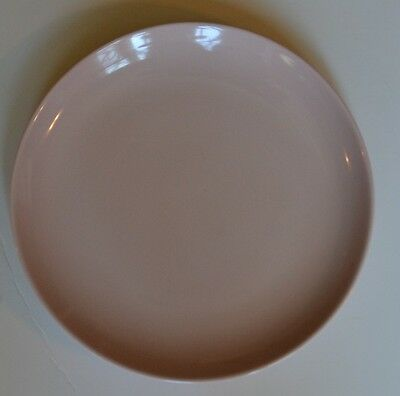 """Russell Wright Dinner Plate 10-1/8"""" Casual Iroquois Pink Sherbet VGC"""